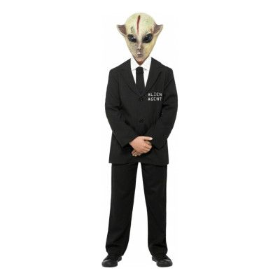 Alien Agent Barn Maskeraddräkt