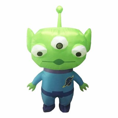 Uppblåsbar Alien Maskeraddräkt - One size