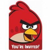 Angry birds Inbjudningskort - Inbjudningskort - 8 st