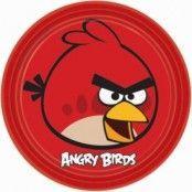 Angry birds Tallrikar - 23cm Papperstallrikar - 8 st