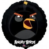 Folieballong - Angry Birds Black 45 cm