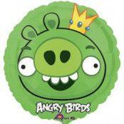 Folieballong - Angry Birds King Pig 45 cm