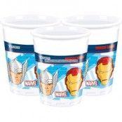 Avengers Assemble muggar - 180ml plastmuggar - 8 st