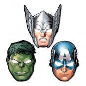 Avengers Pappmasker - 8-pack