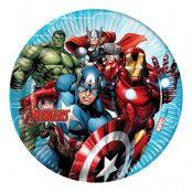 Papperstallrikar Avengers - 8-pack