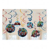 Swirls Avengers Hängande Dekoration - 6-pack