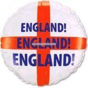 Ballong av folie - engelska flaggan