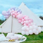 Ballongbåge Deluxe Rosa/Lila Pastell Kit