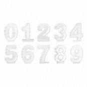 Ballongbox Siffra Vit - Siffra 9