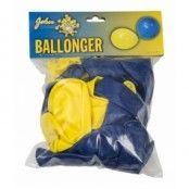 """Ballonger 12"""" 24-p - Gul/blå"""