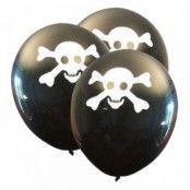 Ballonger Dödskalle - 6-pack
