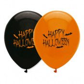 Ballonger Happy Halloween Orange/Svart