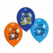 Ballonger med dinosaurier - 23 cm latex - 6 st