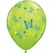 Ballonger med fjärilar - 28 cm latex - 25 st