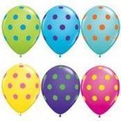 Ballonger med stora prickar - 28 cm latex - 50 st