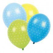 Ballonger Prickiga Blå/Grön/Ljusblå - 6-pack