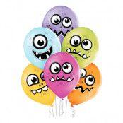 Ballonger Roliga Monster Premium - 6-pack