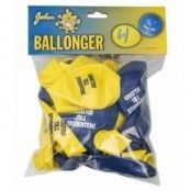 "Ballonger student 12"" 24-p - Gul/blå"