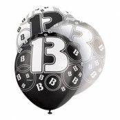 Ballonger Svart/Vit/Grå 13 - 6-pack