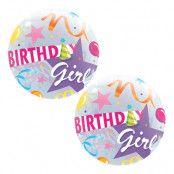 Bubbelballong Birthday Girl