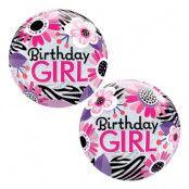 Bubbelballong Birthday Girl Zebra