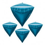 Folieballong Blå Diamant