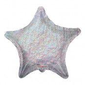 Folieballong Holografisk Stjärna Silver