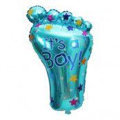 Folieballong It's a Boy! Blå Fot