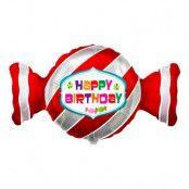 Folieballong Karamell Happy Birthday