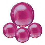 Folieballong Orbz Mörkrosa