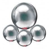 Folieballong Orbz Silver