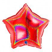 Folieballong Stjärna Glitter Röd