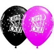 Girls night out ballonger - stjärnor - 28 cm latex - 25 st