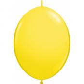 Gula länkbara ballonger - 30 cm latex - 50 st