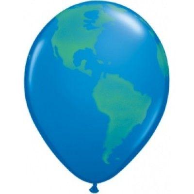 Jordklot ballonger mörkblå - 28 cm latex - 25 st