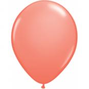 Korallröda ballonger - 28 cm latex - 100 st