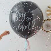 Latexballong Boy or Girl med Konfetti