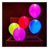 LED-Ballonger Mixade Färger - 5-pack