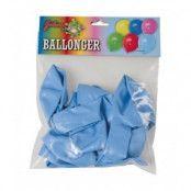 Ljusblå ballonger 10-pack