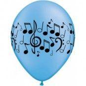 Musiknoter blandade ballonger - 28 cm latex - 25 st