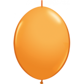 Orange länkbara ballonger - 30 cm latex - 50 st