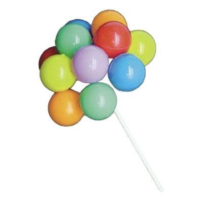 Tårtdekoration Ballonger på Pinne - 10-pack