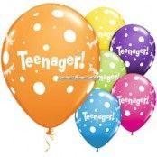 Teenager! Blandade ballonger - 28 cm latex - 6 st