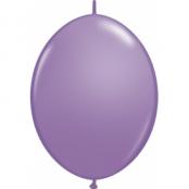 Vårlila länkbara ballonger - 30 cm latex - 50 st