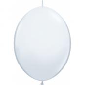 Vit länkbara ballonger - 30 cm latex - 50 st