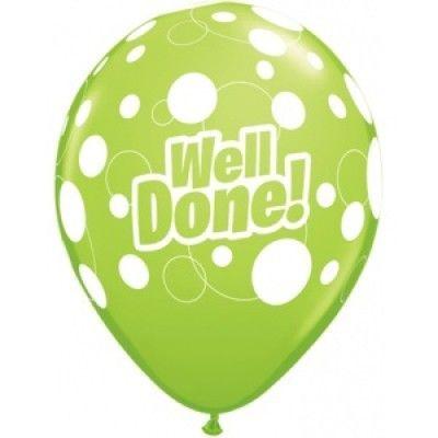 Well Done! Blandade ballonger - Prickar - 28 cm latex - 6 st
