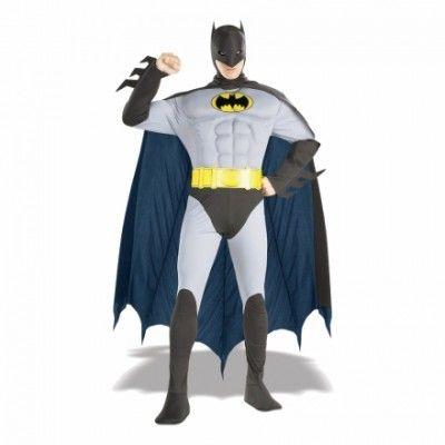 Batman med Muskler Maskeraddräkt - Halloweenbutiken 7ea6a39c93c73