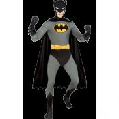 Batman Second Skin Maskeraddräkt, LARGE