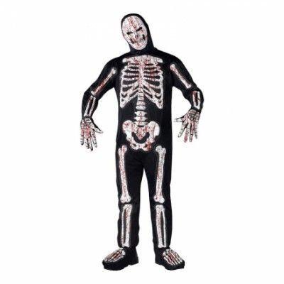Blodigt Skelett Maskeraddräkt - Halloweenbutiken c6b013f21c499