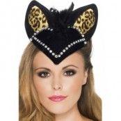 Burlesk hatt/mössa katt - svart